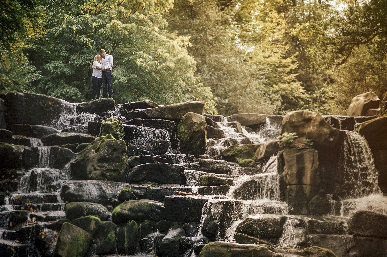 love waterfall engagement