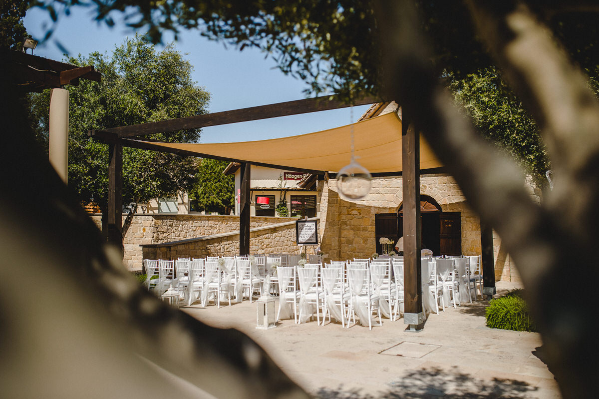 white chairs at venue