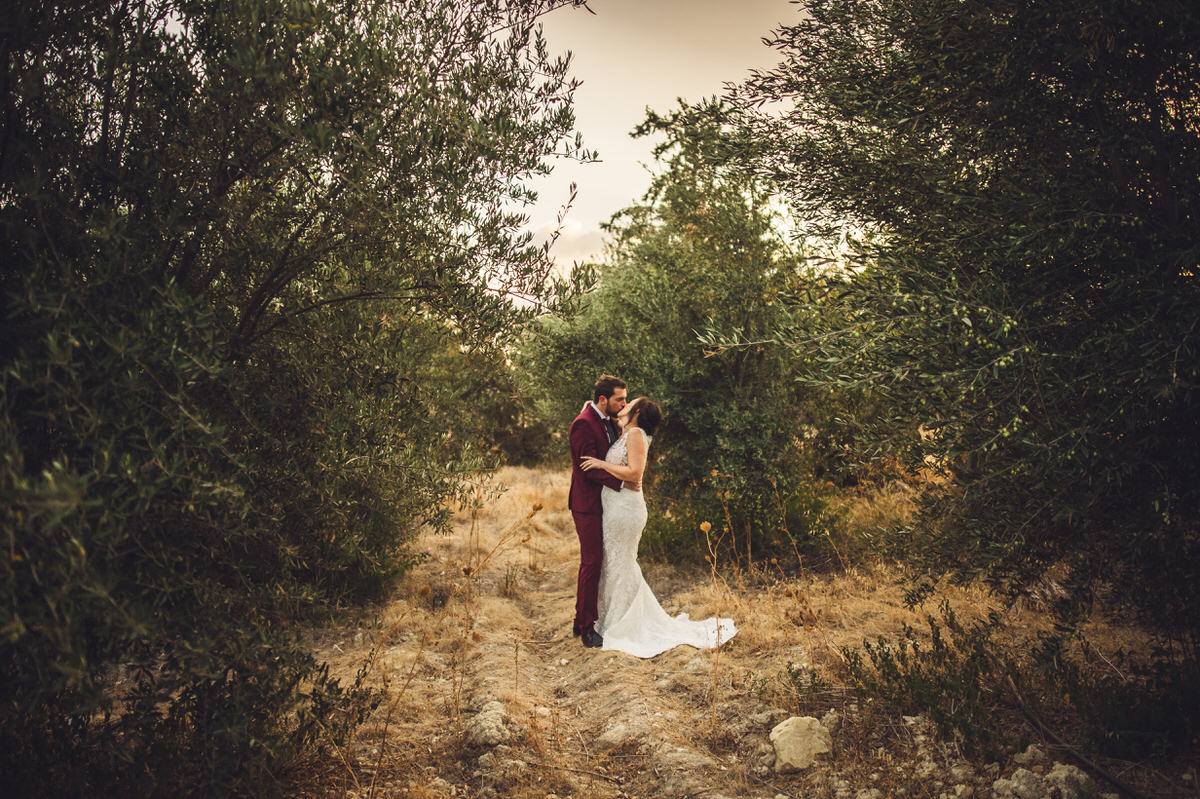 a stunning bride and groom shot