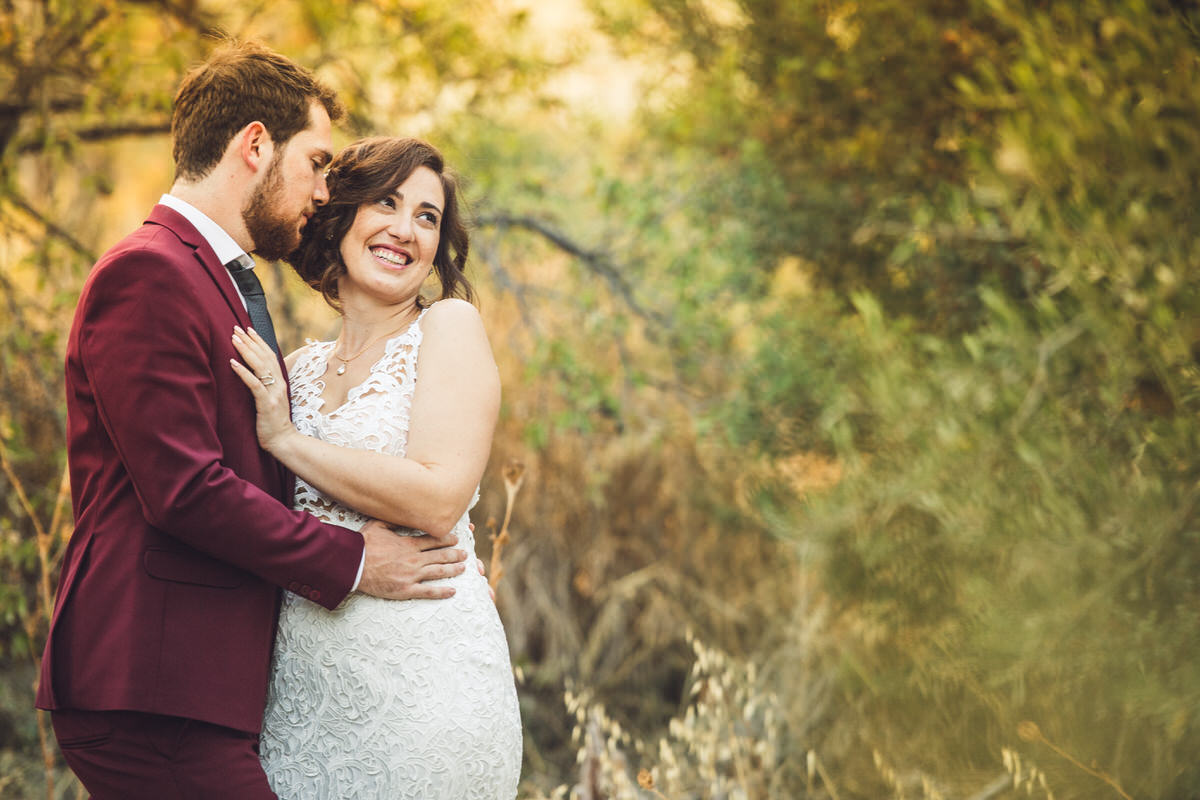lace details on wedding dress