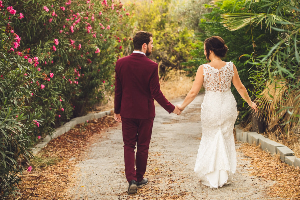 lace dress red suit pathway