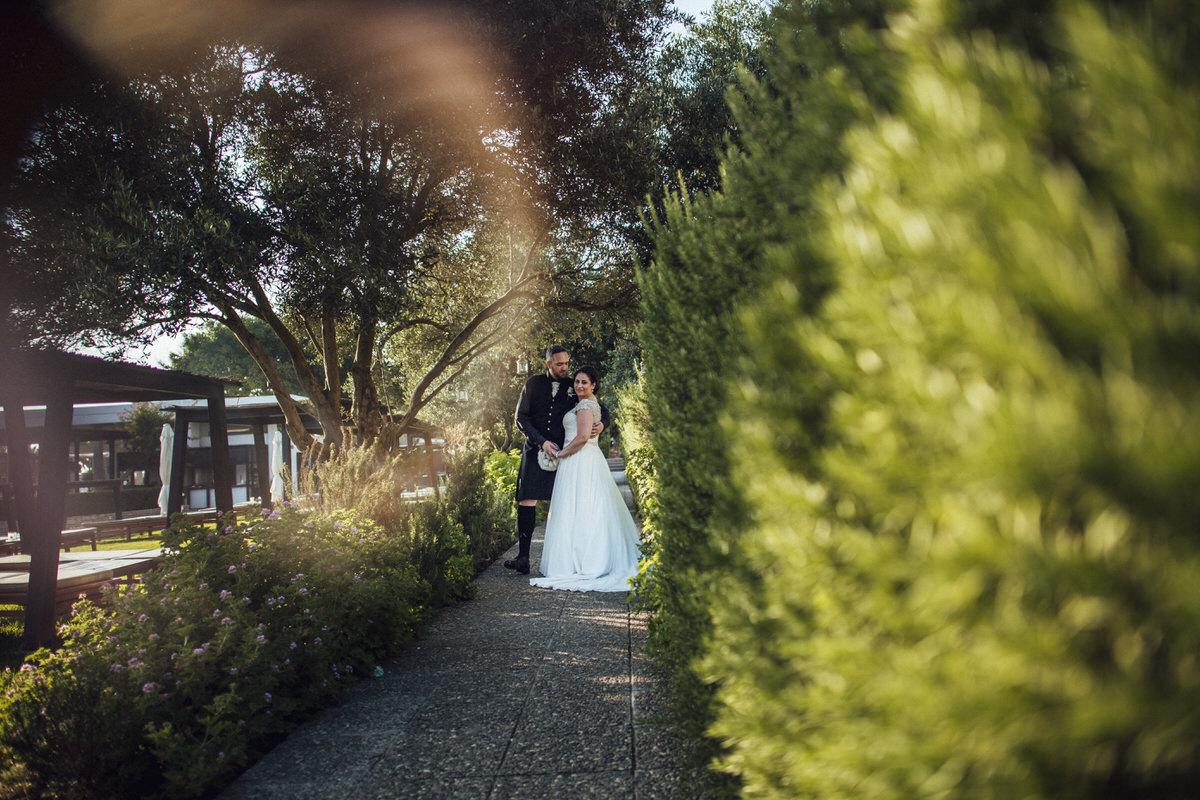 bride and groom portrait shoot