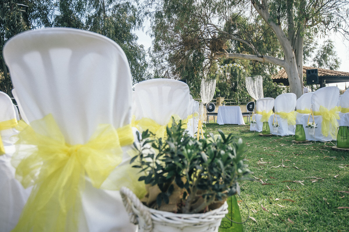 chairs at wedding venue