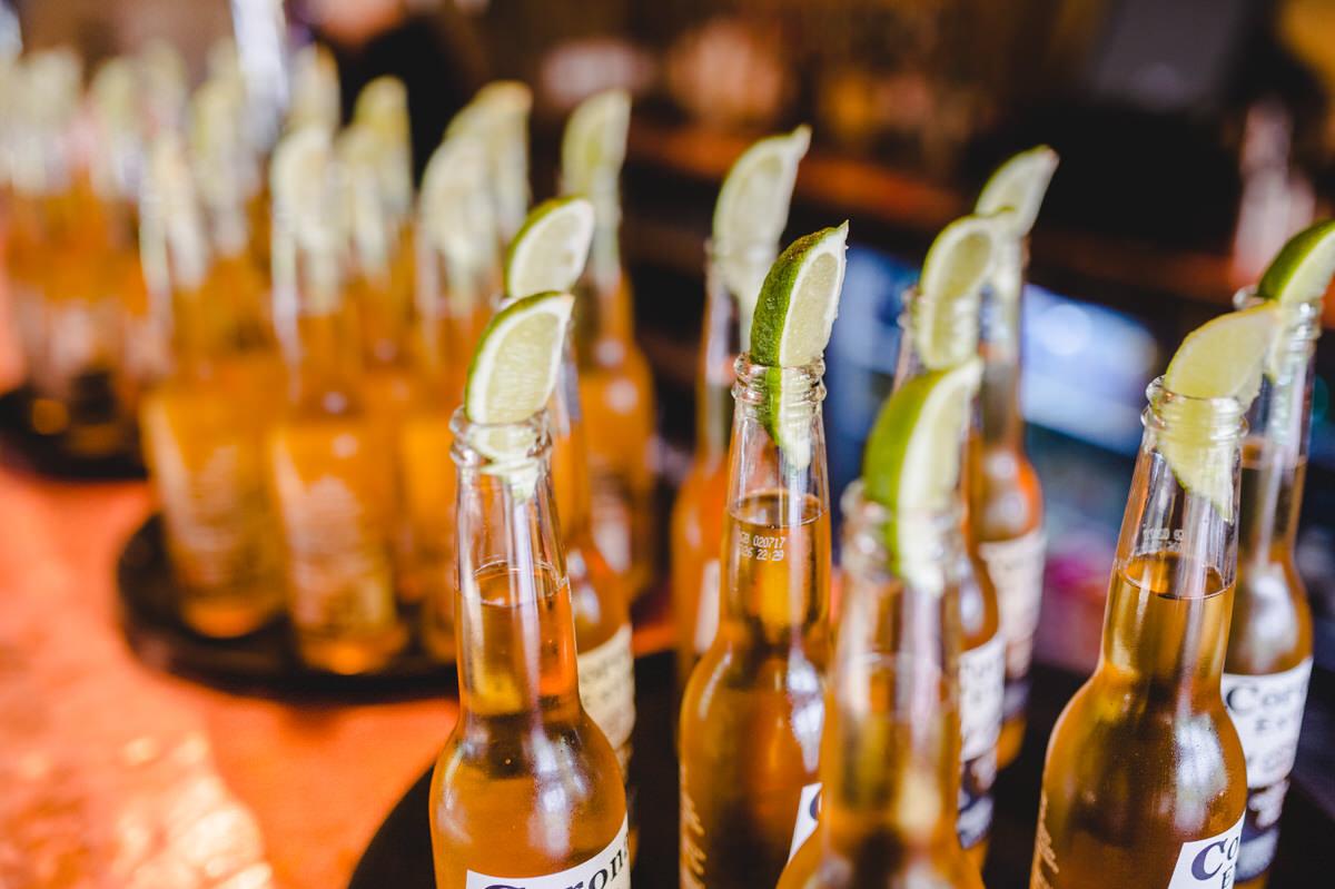 Corona lager and lime