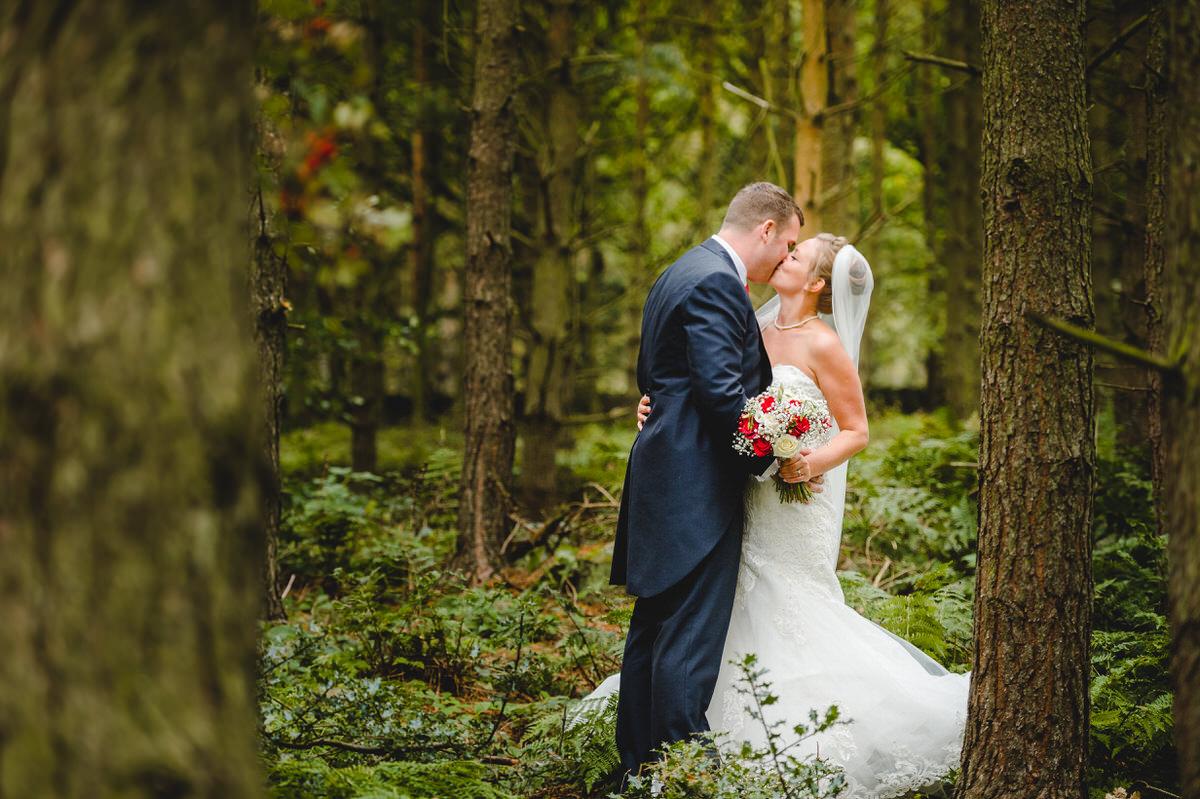 beautiful woodland couple shoot