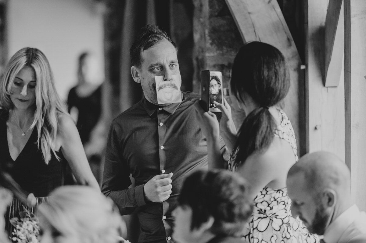 funny faces at wedding