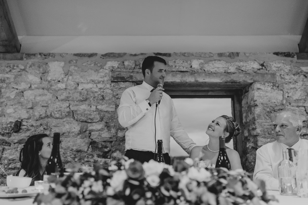 groom making speech