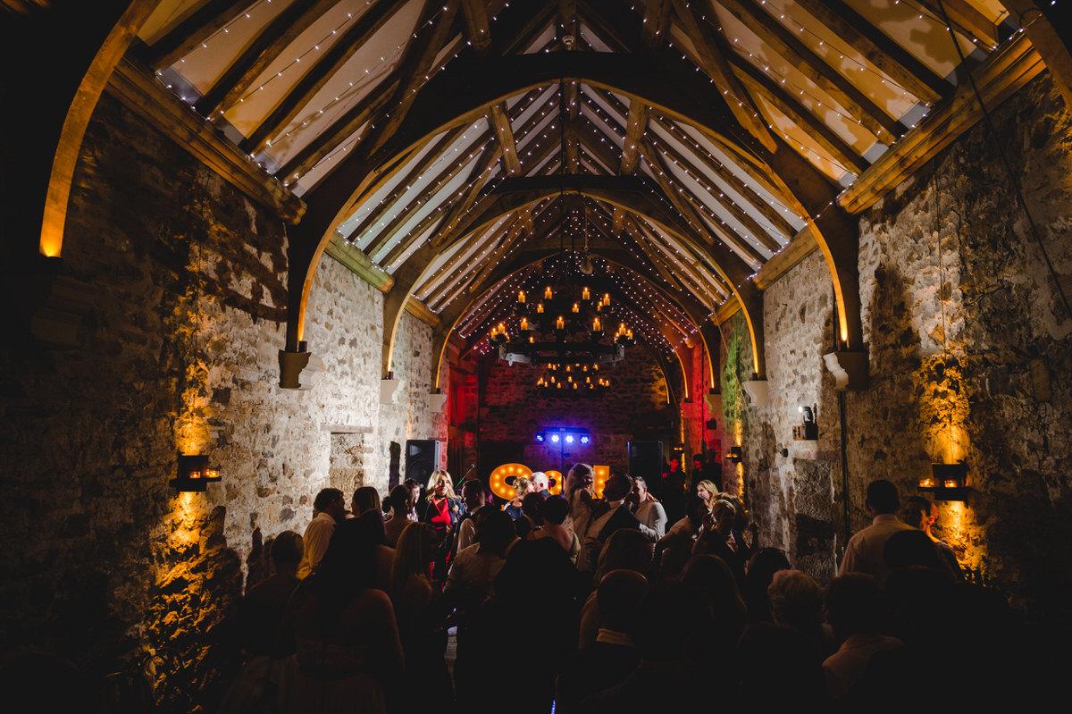 Healey barn in Northumberland in full swing