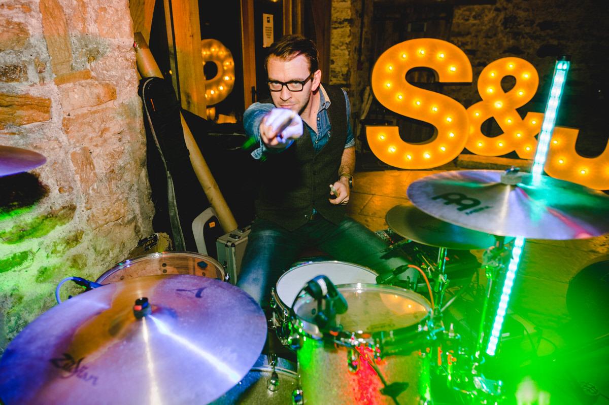 drummer at wedding reception
