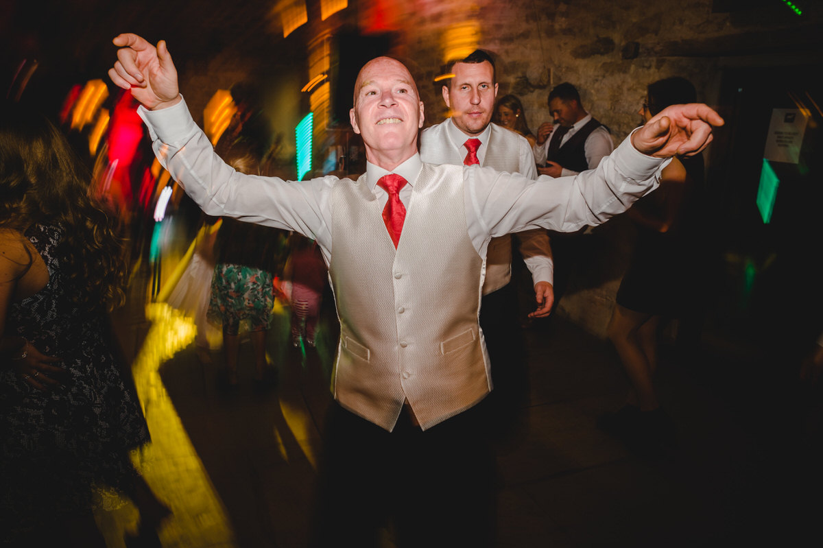 best man having a great time