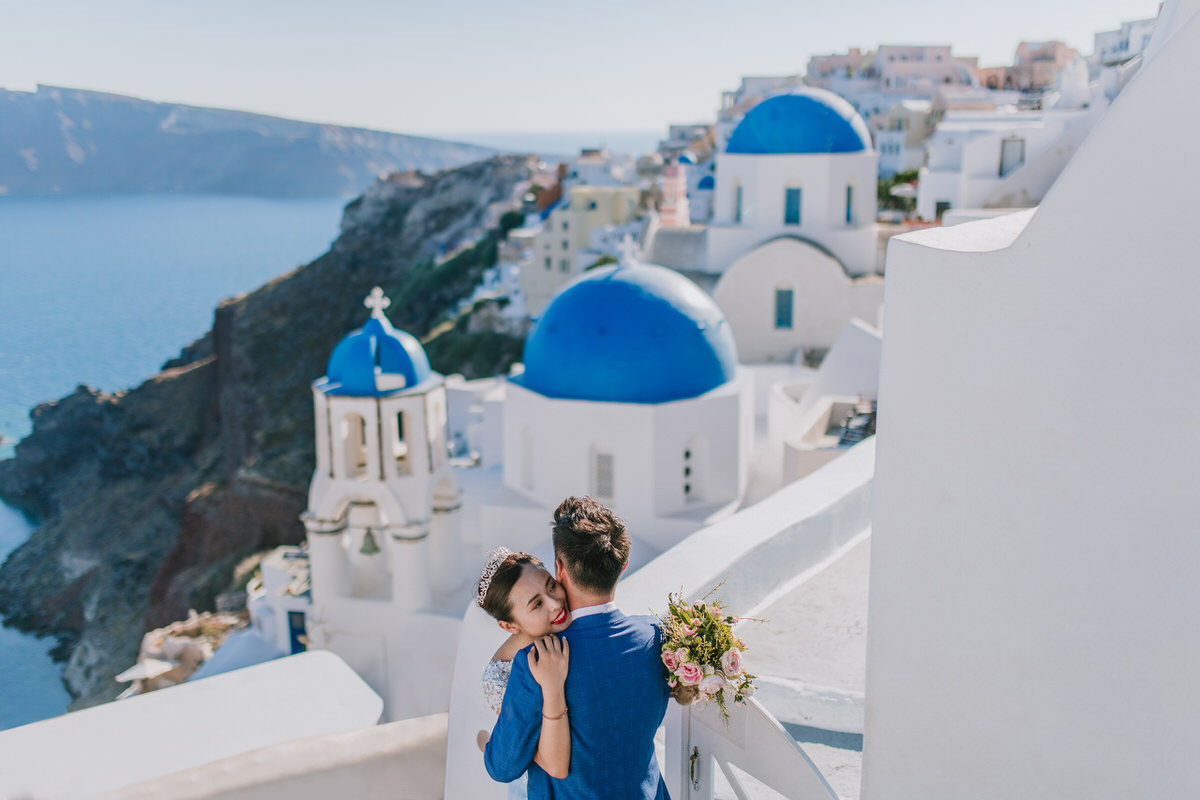 santorini destination wedding beziique