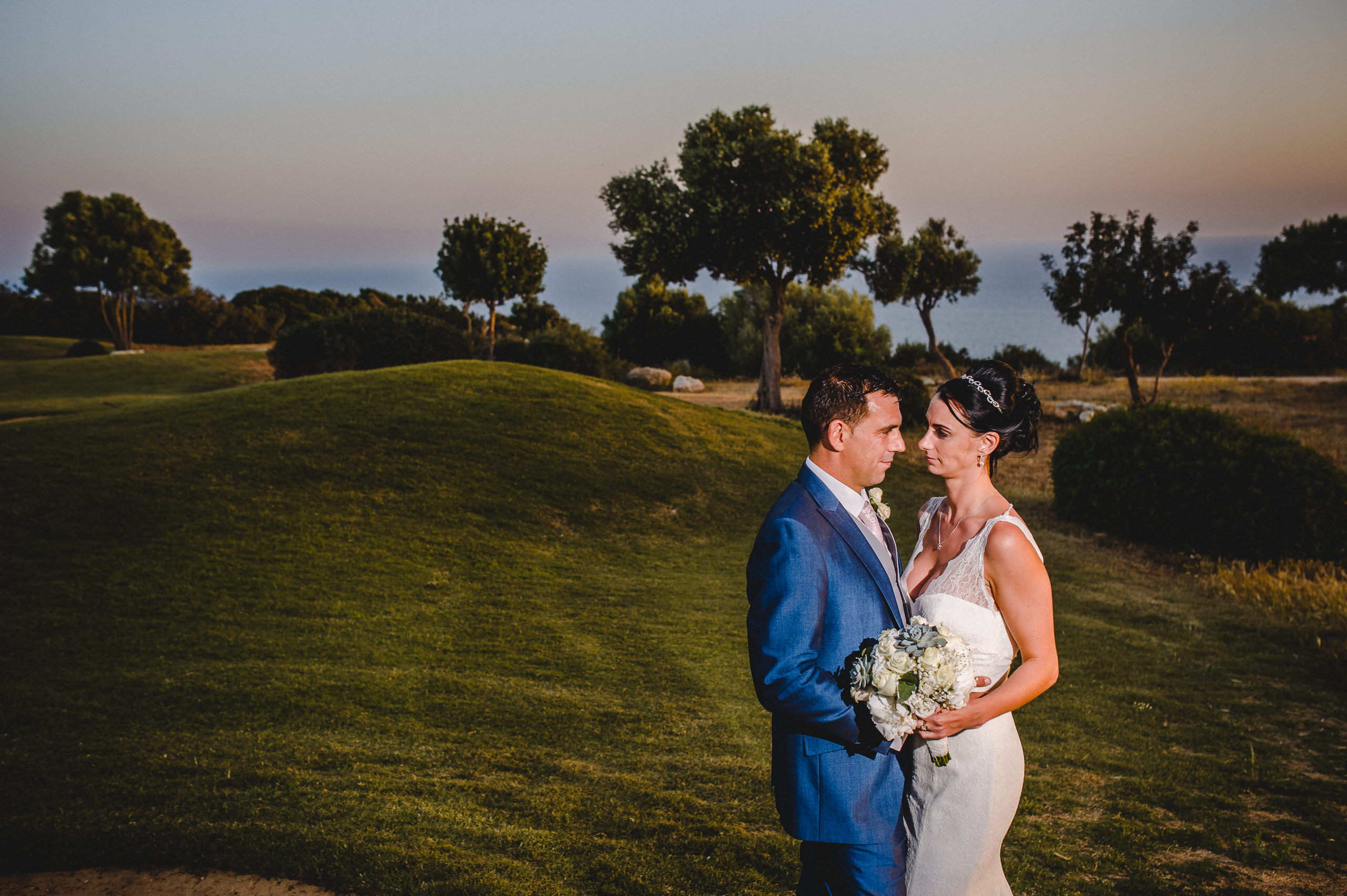 Cyprus Wedding Photography Aphrodite Hills sunset