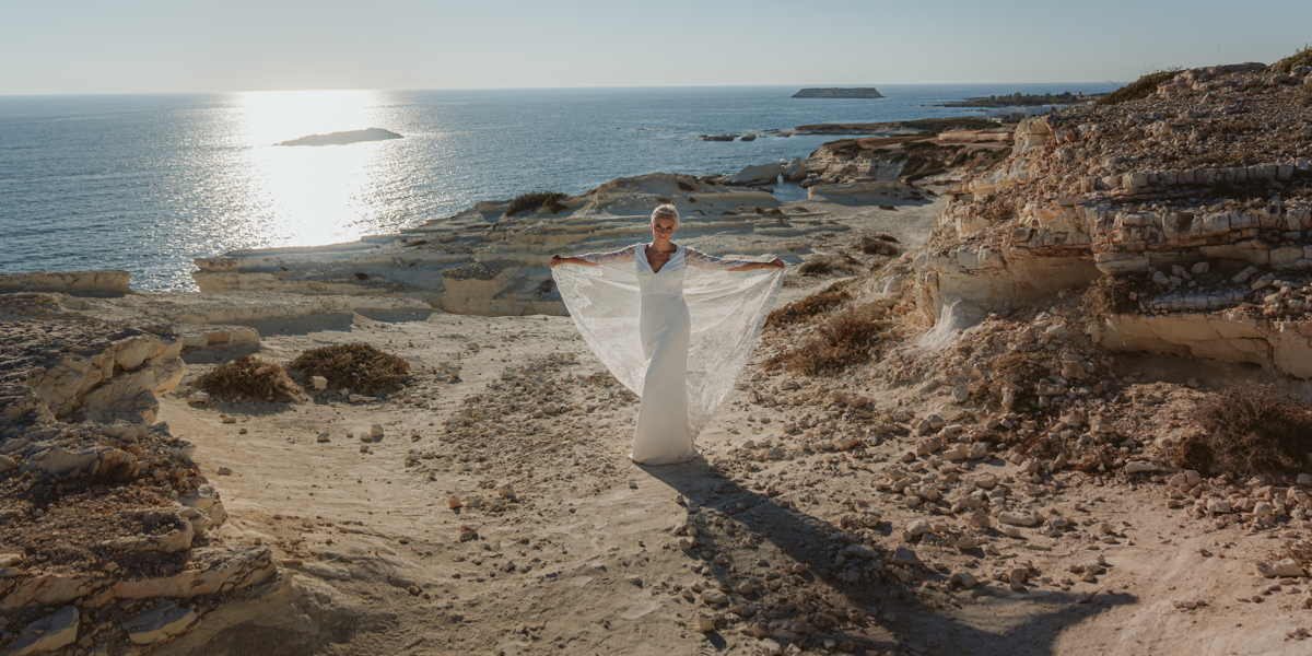 Alana & Luke's Sensational Underwater Cyprus Sea Caves Trash the Dress Shoot 5