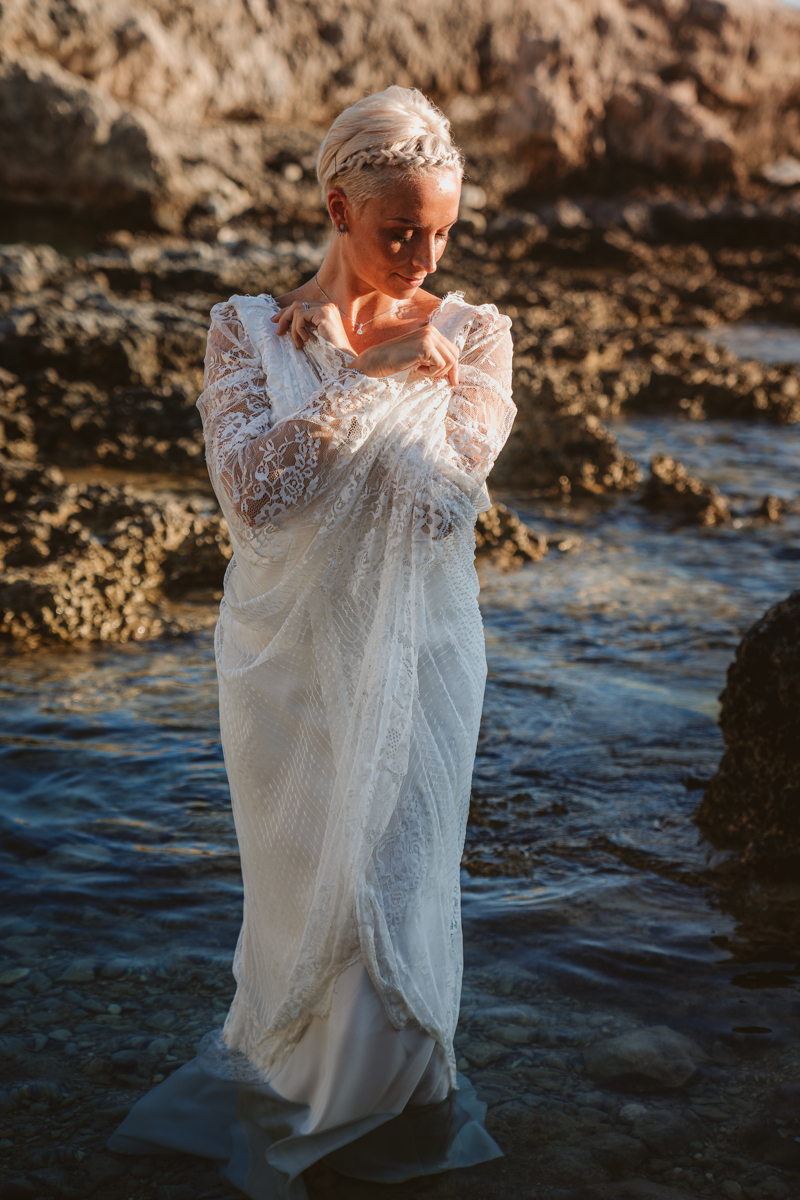 Alana & Luke's Sensational Underwater Cyprus Sea Caves Trash the Dress Shoot 6