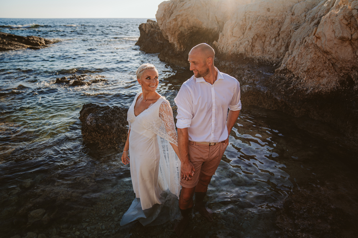 Alana & Luke's Sensational Underwater Cyprus Sea Caves Trash the Dress Shoot 7