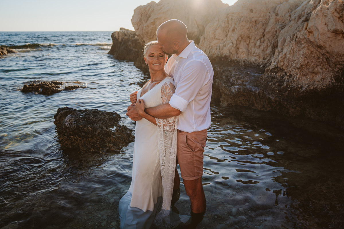 Alana & Luke's Sensational Underwater Cyprus Sea Caves Trash the Dress Shoot 8