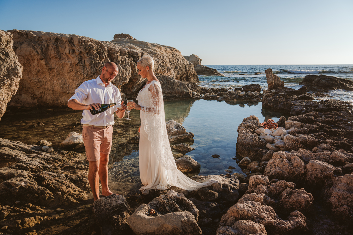 Alana & Luke's Sensational Underwater Cyprus Sea Caves Trash the Dress Shoot 10
