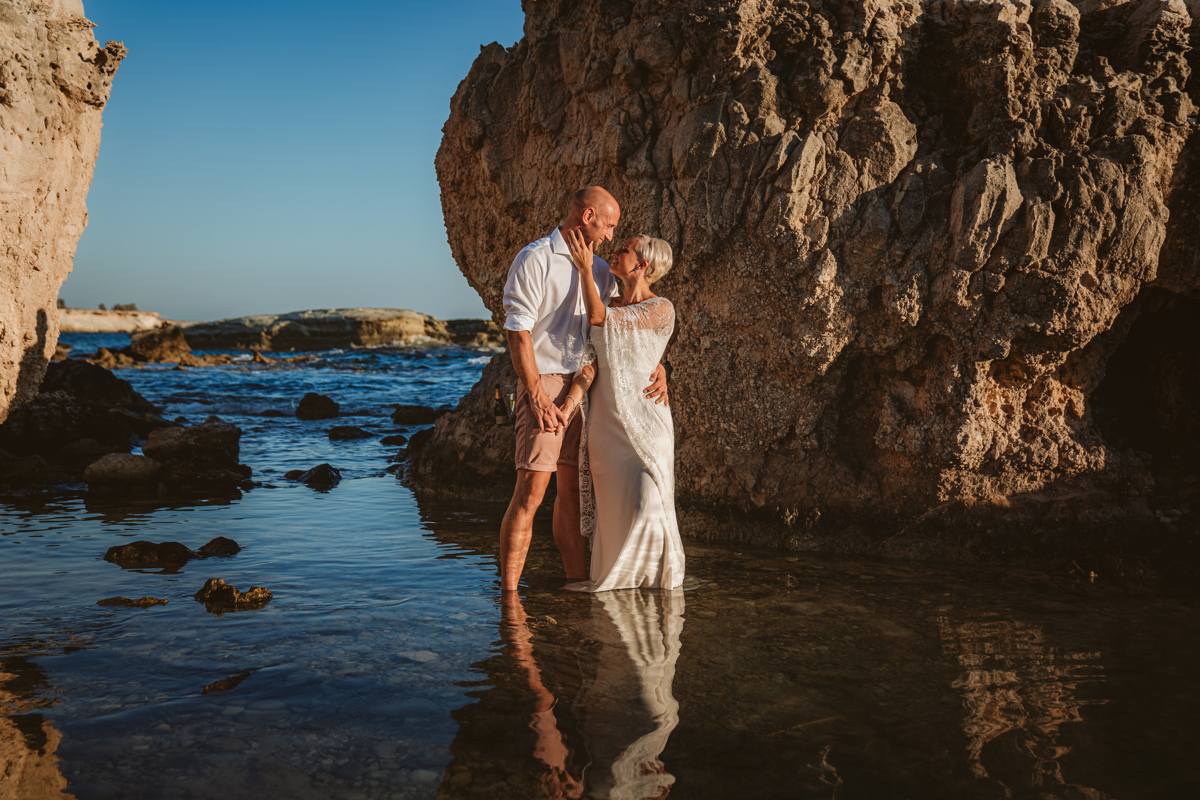 Alana & Luke's Sensational Underwater Cyprus Sea Caves Trash the Dress Shoot 12