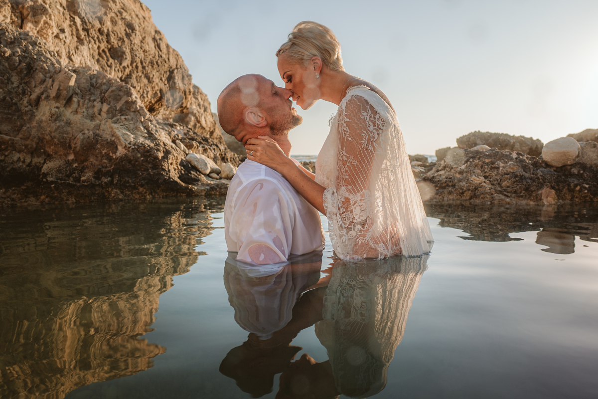 Alana & Luke's Sensational Underwater Cyprus Sea Caves Trash the Dress Shoot 13