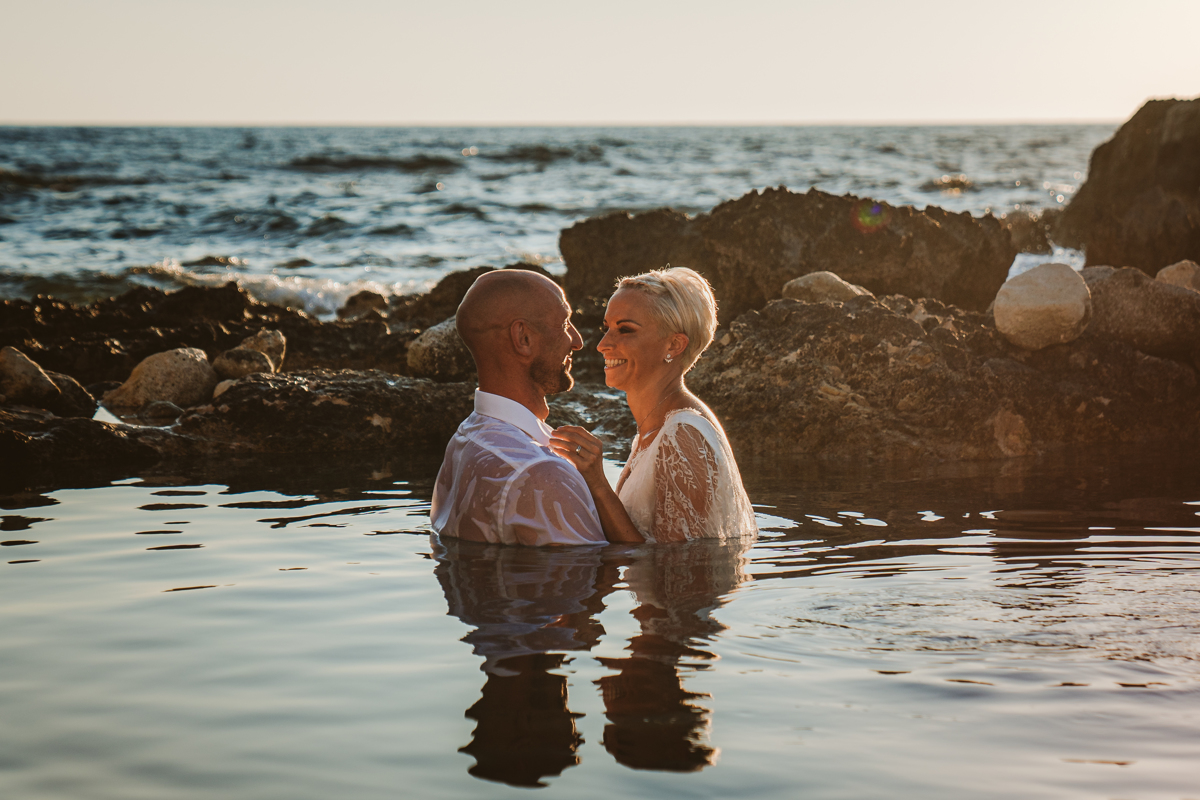 Alana & Luke's Sensational Underwater Cyprus Sea Caves Trash the Dress Shoot 15