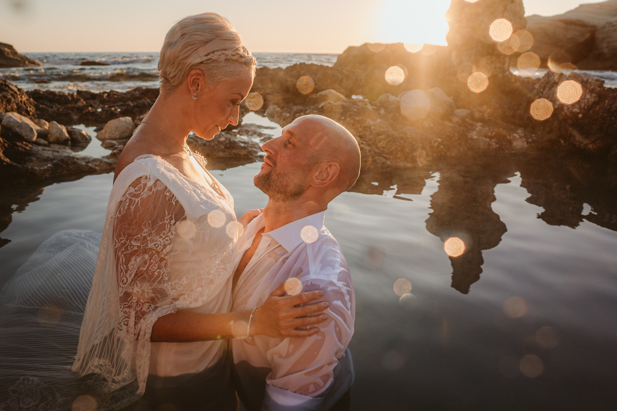 Alana & Luke's Sensational Underwater Cyprus Sea Caves Trash the Dress Shoot 17