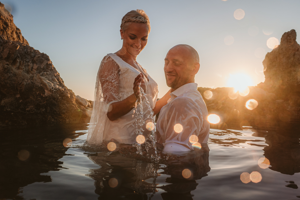 Alana & Luke's Sensational Underwater Cyprus Sea Caves Trash the Dress Shoot 19