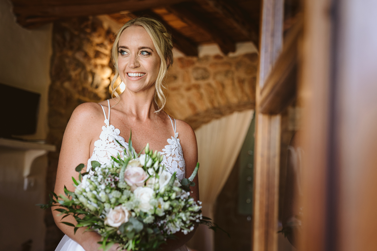 Iain & Sophie's Enchanting White Agroturismo Can Gall Ibiza Wedding 6