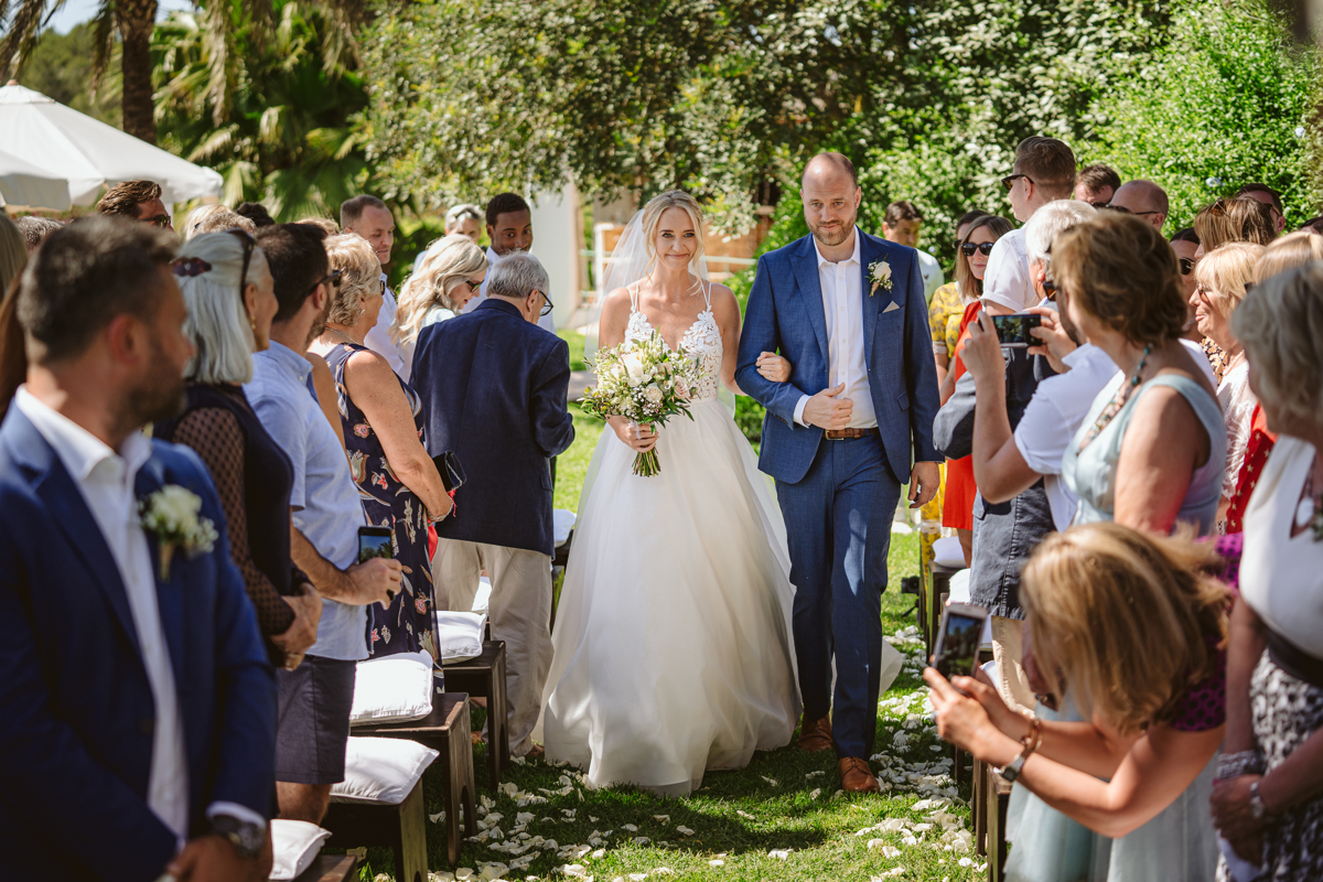 Iain & Sophie's Enchanting White Agroturismo Can Gall Ibiza Wedding 15