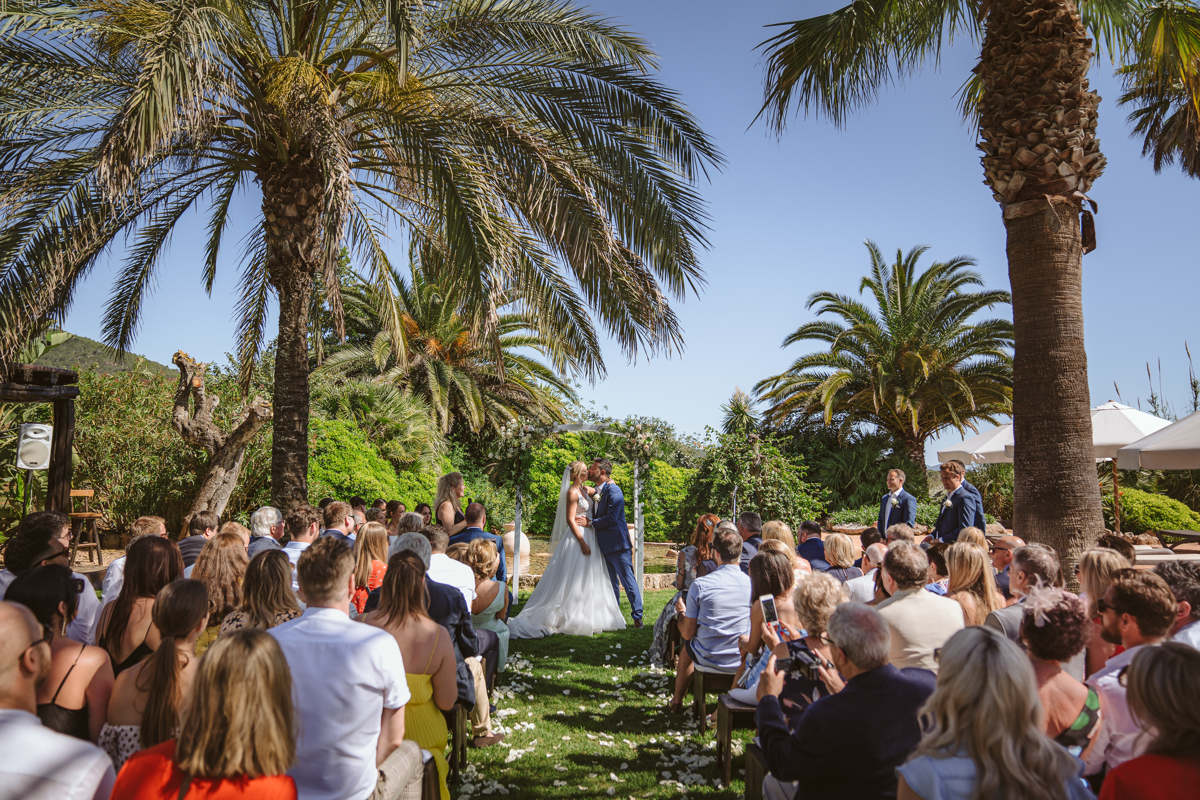 Iain & Sophie's Enchanting White Agroturismo Can Gall Ibiza Wedding 20