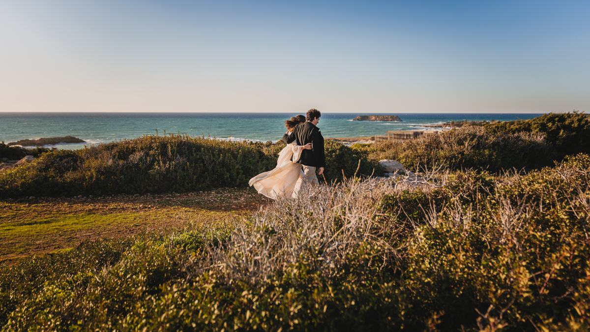 Fall head over heels for this couple's dreamy clifftop wedding in Cyprus, captured image by image in all its romance by us, their Cyprus elopement photographer