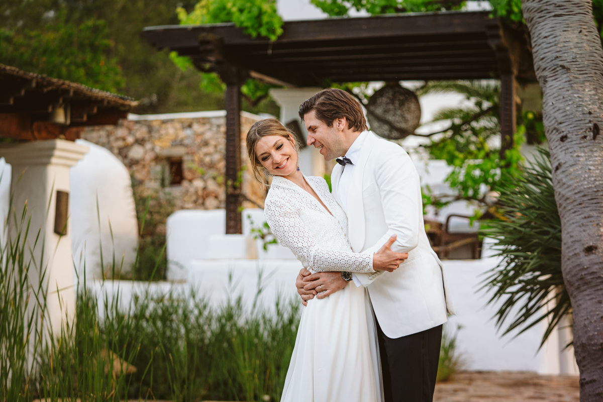 Go behind the scenes at Antonia & Birger's luxury, ultra-romantic Atzaro Ibiza wedding with a ceremony beside the water and epic party after dark.