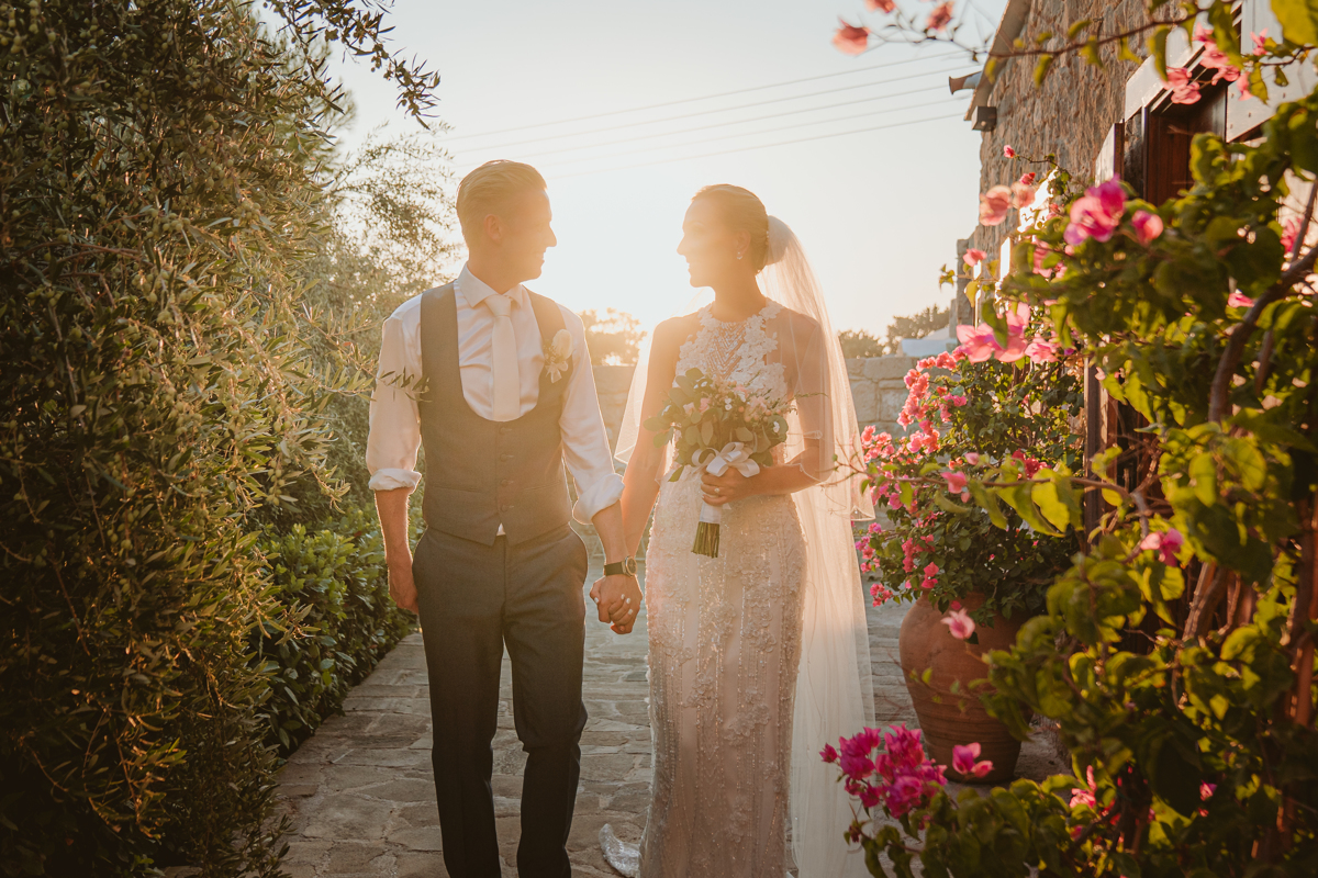 Get a sneak peek at Charlene and Ben's beautiful blush pink Liopetro wedding in Cyprus, captured by Beziique, their creative Kouklia wedding photographers.
