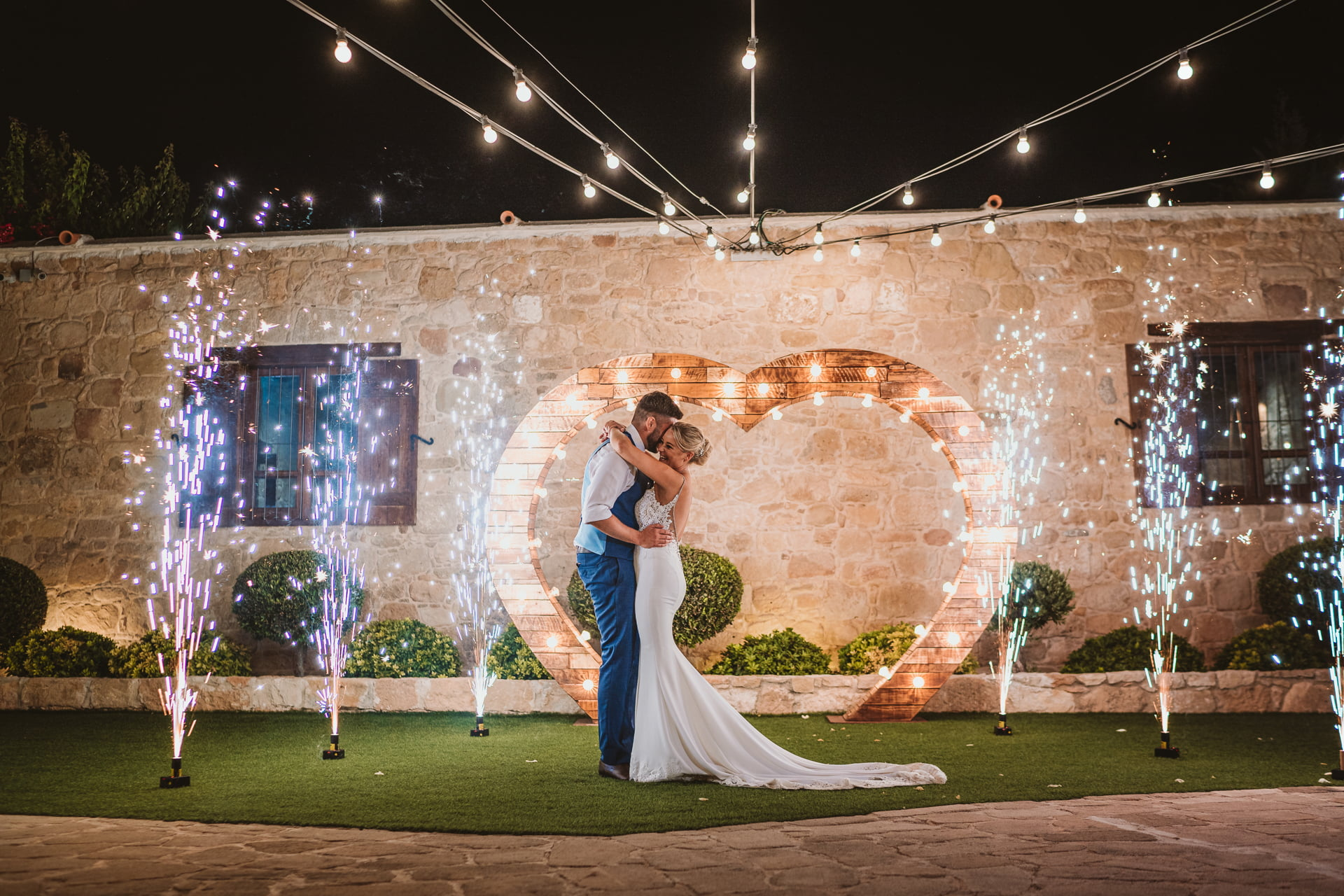 Natalie and Jack's Firework-Filled Liopetro Wedding 6